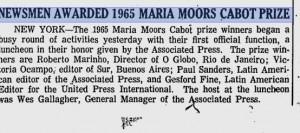 1965 Maria Moors Cabot